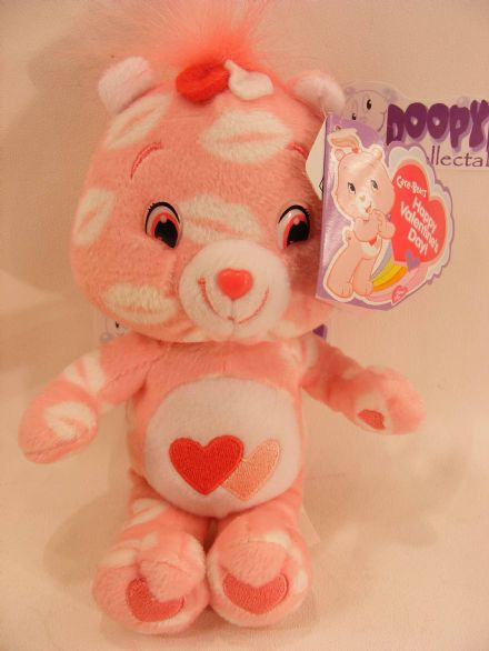 "8"" VALENTINES DAY LOVE-A-LOT CARE BEARS BEANIE"